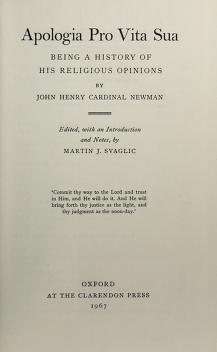 Cover of: Apologia pro vita sua | John Henry Newman
