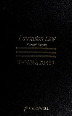 Cover of: Education law | Anthony F. Brown