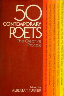 Cover of: Fifty contemporary poets | edited by Alberta T. Turner.