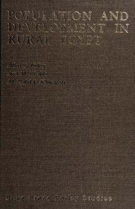 Cover of: Population and development in rural Egypt | Allen C. Kelley